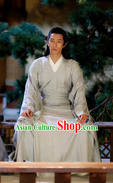 Traditional Ancient Chinese Southern and Northern Dynasties Scholar Clothing, Chinese North Yan Dynasty Commoner Hanfu Swordsman Costume