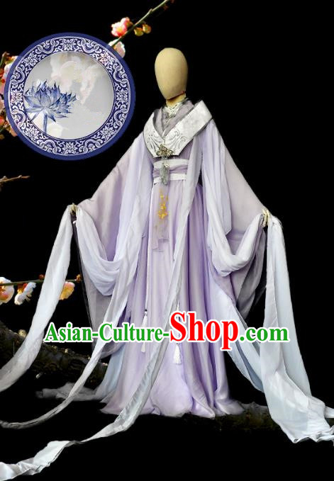 Chinese Ancient Cosplay Han Dynasty Princess Costumes, Chinese Traditional Dress Clothing Chinese Cosplay Palace Lady Costume for Women