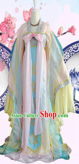 Chinese Ancient Cosplay Tang Dynasty Princess Costumes, Chinese Traditional Dress Clothing Chinese Cosplay Palace Lady Costume for Women