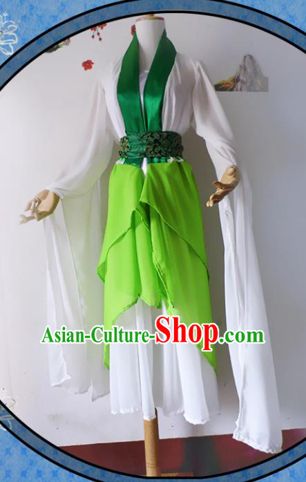 Chinese Ancient Cosplay Han Dynasty Princess Fairy Costumes, Chinese Traditional Green Hanfu Dress Clothing Chinese Swordswoman Costume for Women