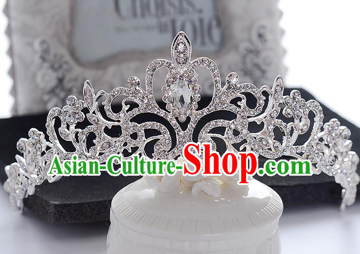 Top Grade Handmade Chinese Classical Hair Accessories Baroque Style Headband Crystal Princess Royal Crown, Hair Sticks Hair Jewellery Hair Clasp for Women