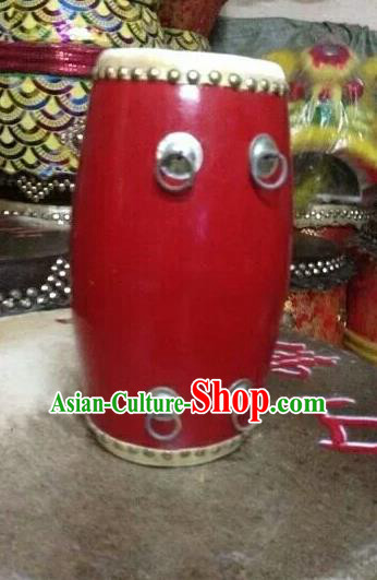 Dragon Dance Lion Dance Red Waist Drum Cowhide Drum Cart Musical Instrument Tupan