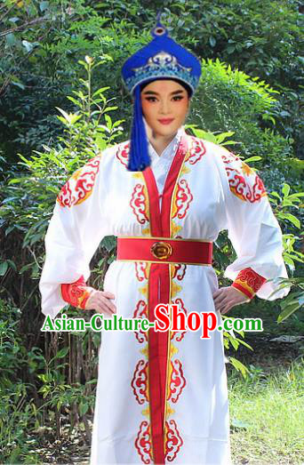 Traditional China Beijing Opera Niche Costume Young Men Robe, Ancient Chinese Peking Opera Prince Clothing