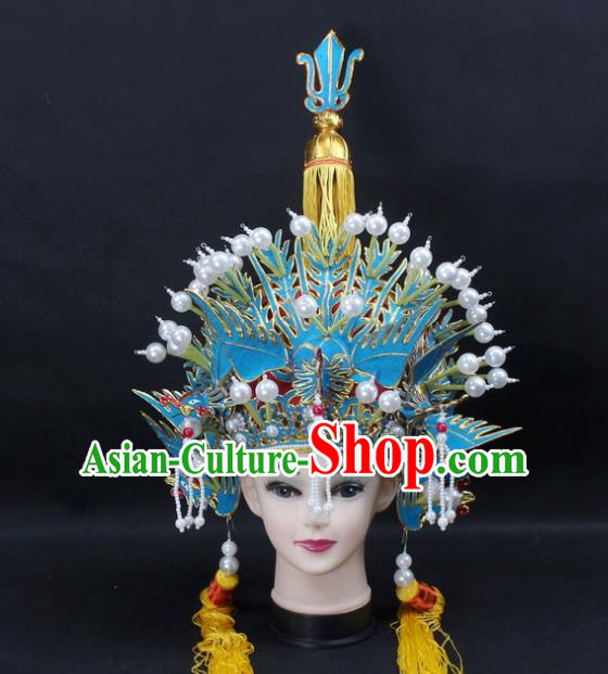 Traditional China Beijing Opera Young Lady Hair Accessories Empress Phoenix Coronet, Ancient Chinese Peking Opera Hua Tan Headwear Diva Hat