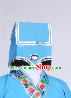 Top Grade Professional Beijing Opera Niche Costume Scholar Hair Accessories Headwear, Traditional Ancient Chinese Peking Opera Young Men Hat