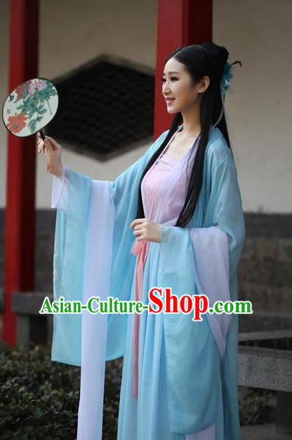 Traditional Ancient Chinese Palace Lady Costume, Elegant Hanfu Chinese Tang Dynasty Imperial Princess Embroidered Dress for Women
