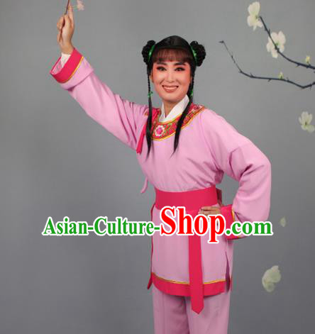 Top Grade Professional Beijing Opera Livehand Pink Costume, Traditional Ancient Chinese Peking Opera Lad Boy Book Clothing