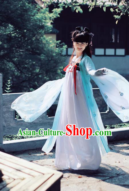 Traditional Ancient Chinese Imperial Concubine Dance Costume, Elegant Hanfu Chinese Tang Dynasty Princess Embroidered Clothing for Women