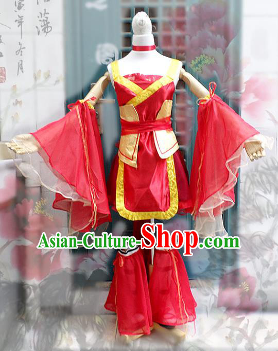 Traditional Chinese Tang Dynasty Swordswoman Costume, China Ancient Elegant Hanfu Heroine Dress Clothing