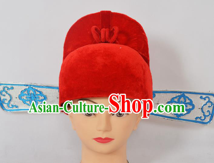 Traditional Handmade Chinese Classical Peking Opera Officer Hat, China Beijing Opera Lang Scholar Headwear