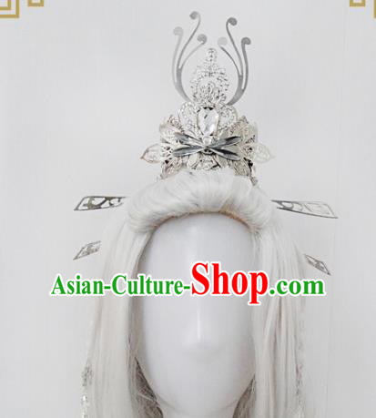 Traditional Handmade Chinese Ancient Classical Hair Accessories Swordsman Tuinga, Hair Jewellery Hair Fascinators for Men