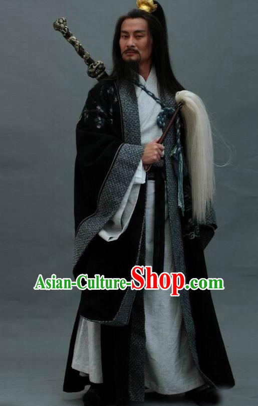 Traditional Chinese Ancient Kawaler Costume, Elegant Taoist Priest Hanfu Clothing Chinese Ancient Song Dynasty Swordsman Clothing