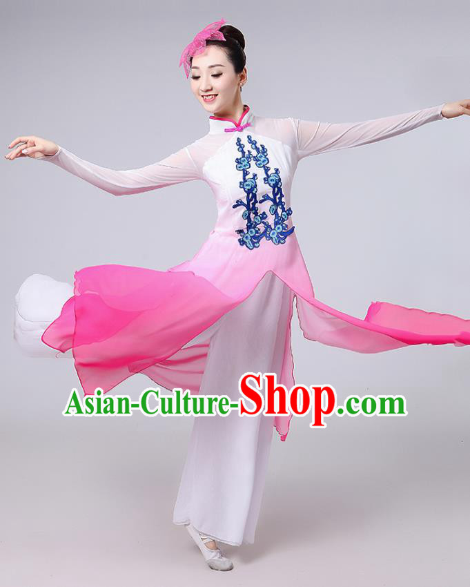 Traditional Chinese Classical Dance Yangge Fan Dance Costume, Chinese Classical Dance Folk Dance Uniform Yangko Clothing for Women