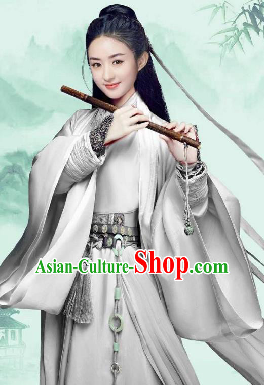 Traditional Chinese Han Dynasty Swordswoman Costume, Elegant Hanfu Clothing Chinese Ancient Chivalrous Women Clothing