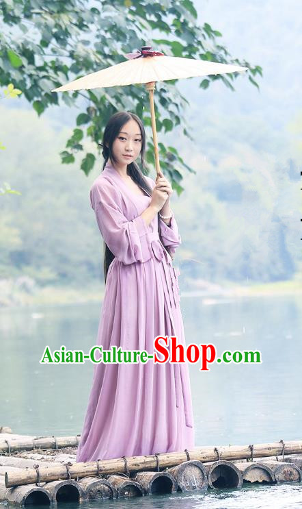 Traditional Ancient Chinese Young Lady Costume, Chinese Han Dynasty Hanfu Embroidered Clothing for Women