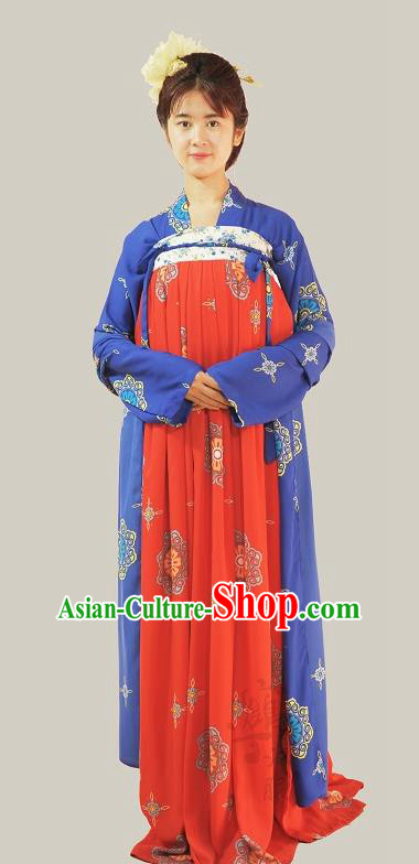 Traditional Chinese Tang Dynasty Young Lady Costumes Ancient Princess Slip Skirts for Women
