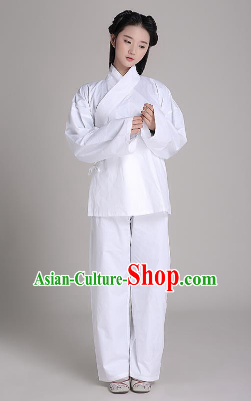 Traditional Chinese Hanfu Costumes Ancient Han Dynasty Princess Pajamas Blouse and Pants Complete Set
