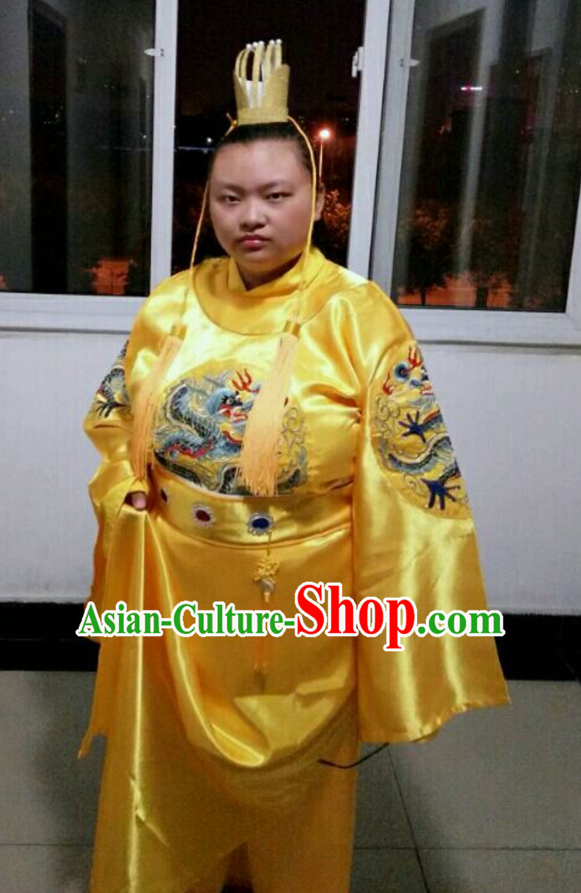 Ancient Chinese Tang Dynasty Emperor Costumes Complete Set for Men