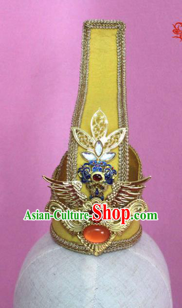 Traditional Handmade Chinese Hair Accessories Emperor Headwear, China Han Dynasty Hairdo Crown Tuinga for Men
