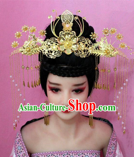 Traditional Handmade Chinese Hair Accessories Palace Lady Empress Headwear, Hanfu Imperial Concubine Tassel Step Shake Hairpins for Women