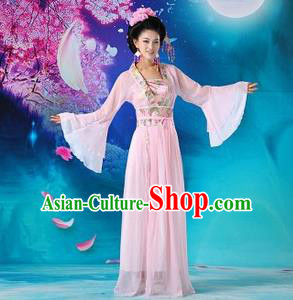 Traditional Ancient Chinese Palace Lady Costume, Asian Chinese Tang Dynasty Princess Fairy Green Dress Clothing for Women
