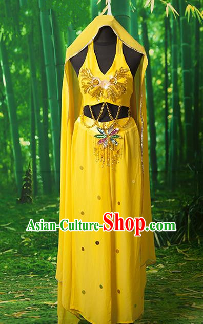 Traditional Chinese Uyghur Nationality Dancing Costume, India Dance Costume, Chinese Minority Nationality Uigurian Dance Costume for Women