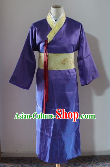 Traditional Ancient Chinese Scholar Costume, Asian Chinese Han Dynasty Swordsman Clothing for Men
