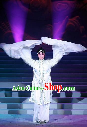 Traditional Ancient Chinese Peking Opera Water Sleeve Dance Costume, Elegant Hanfu Clothing Chinese Palace Lady Dress Clothing for Women