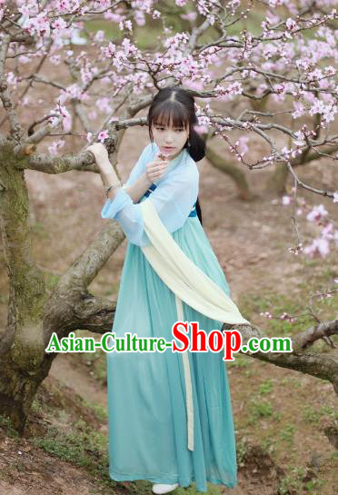 Traditional Ancient Chinese Tang Dynasty Palace Lady Costume, Elegant Hanfu Clothing Chinese Fairy Dress Princess Clothing