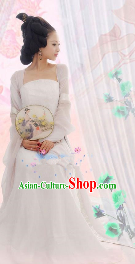 Traditional Ancient Chinese Tang Dynasty Imperial Concubine Costume, Elegant Hanfu Clothing Chinese Fairy Palace Lady Dress Princess Clothing