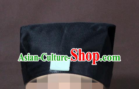 Traditional Chinese Beijing Opera Wu Dang Taoist Black Hats Taoism Headband for Men