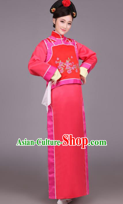 Traditional Chinese Ancient Manchu Imperial Princess Costume, China Qing Dynasty Palace Lady Clothing for Women