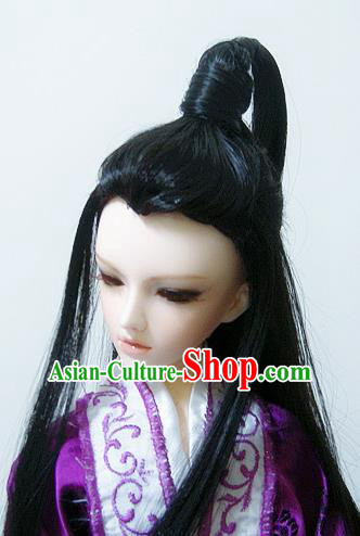 Traditional Handmade Chinese Ancient Han Dynasty Nobility Childe Hair Accessories Wig Sheath for Men