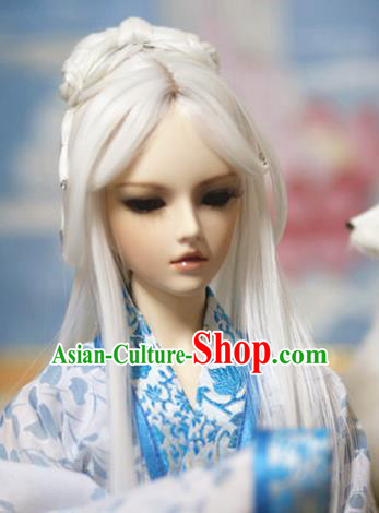 Traditional Handmade Chinese Ancient Swordsman Hair Accessories Nobility Childe Wig Sheath for Men