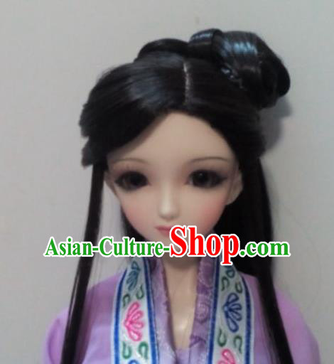 Traditional Handmade Chinese Ancient Princess Nobility Lady Wig Sheath for Women