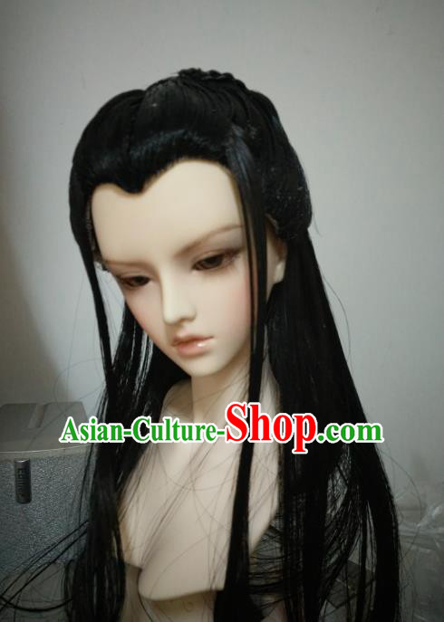 Traditional Handmade Chinese Ancient Royal Highness Wig Sheath Swordsman Wiggery for Men