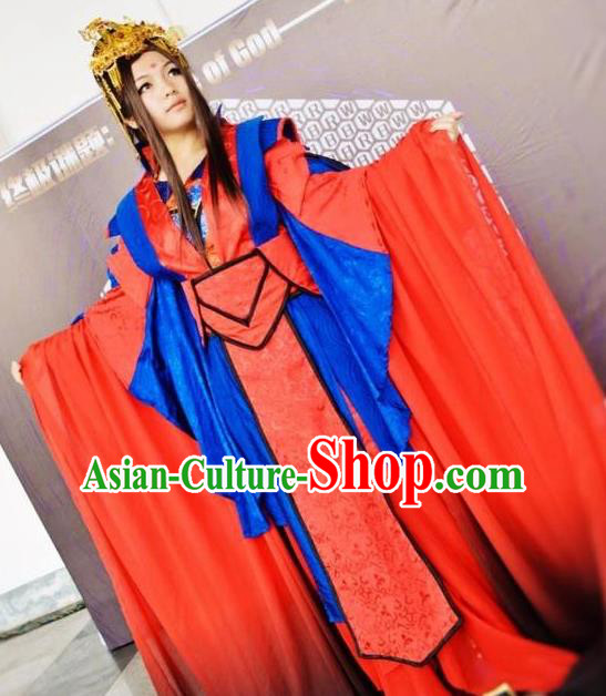 Traditional Chinese Ancient Fairy Hanfu Costume Han Dynasty Palace Lady Princess Clothing for Women