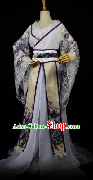 Traditional Chinese Ancient Princess Hanfu Costume Han Dynasty Nobility Lady Dress Clothing for Women