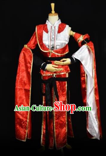 Traditional Chinese Ancient Cosplay Young Lady Princess Costume Swordswoman Clothing