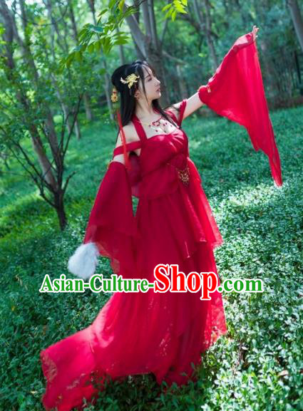 Traditional Chinese Ancient Cosplay Princess Costume Tang Dynasty Palace Lady Dress Clothing