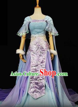 Traditional Chinese Ancient Cosplay Royal Princess Costume Tang Dynasty Palace Lady Dress Clothing