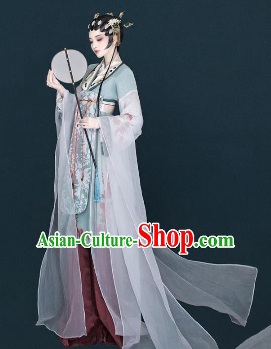 Asian Chinese Ancient Beijing Opera Palace Princess Clothing and Headpiece Complete Set