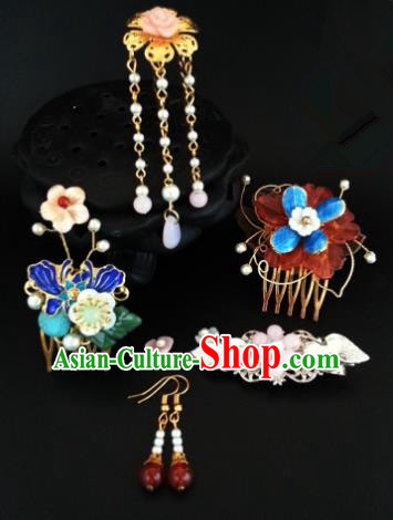 Traditional Handmade Chinese Ancient Classical Hair Accessories Hairpins Complete Set for Women