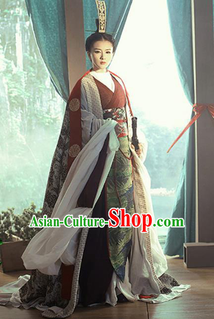 Traditional Chinese Ancient Swordswoman Costume, China Ming Dynasty Chivalrous Women Clothing