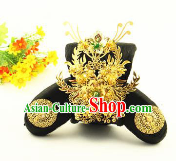 Asian Chinese Handmade Classical Hair Accessories Princess Wig Sheath and Hairpins Phoenix Coronet for Women