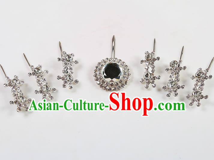 Chinese Beijing Opera Actress Hair Accessories Crystal Hairpins, China Peking Opera Diva Headpiece
