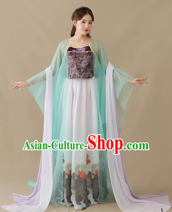 Traditional Chinese Tang Dynasty Fairy Princess Costume, China Ancient Palace Lady Hanfu Clothing for Women