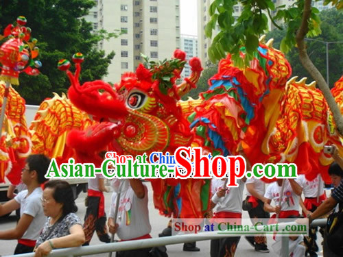 200 Foot Long Best Dragon Dance Costumes Complete Set for Grand Opening and Festival Celebrations