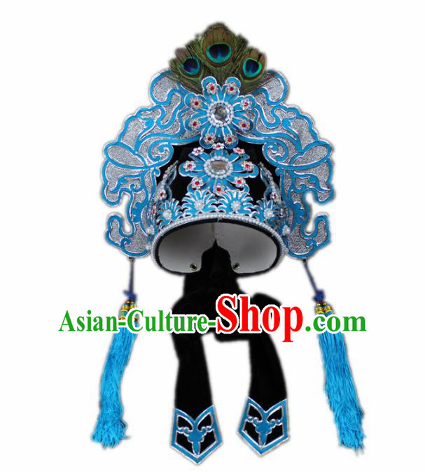 Traditional China Beijing Opera Niche Hat, Chinese Peking Opera Scholar Headwear