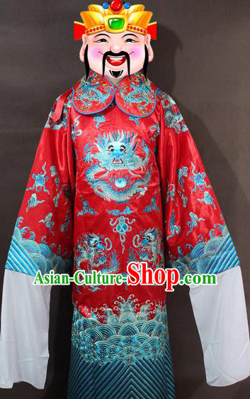 Traditional China Beijing Opera Minister Costume Embroidered Robe, Chinese Peking Opera Lang Scholar Clothing